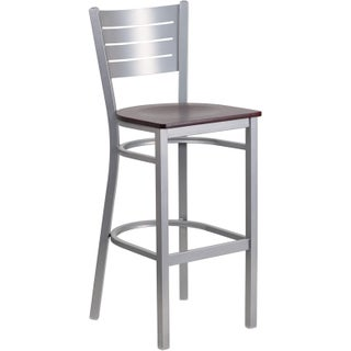 Clay Alder Home Langley Silver Metal Restaurant Bar Stool (2 options available)