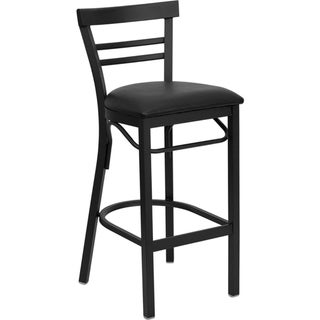 Heavy-duty Bar Height Contemporary Bar Stool