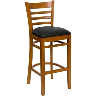 Heavy-duty Light Wood Bar-height Bar Stool