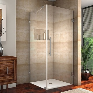 Aston Aquadica 32-in x 32-in x 72-in Completely Frameless Square Hinged Shower Enclosure in Chrome