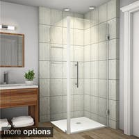 Aston Aquadica GS 34-in x 34-in x 72-in Frameless Square Shower Enclosure w. Glass Shelves in Chrome