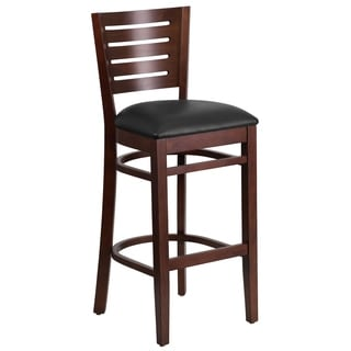 Wood Restaurant Backed Bar Stool