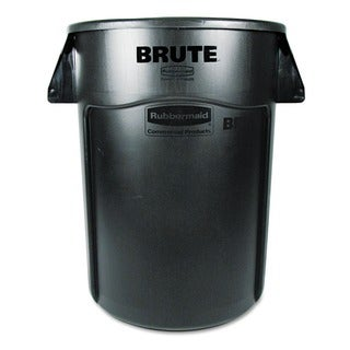 Rubbermaid Commercial 44-gallon Black Brute Vented Trash Receptacle