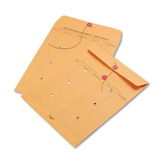 Universal Light Brown Kraft String & Button Interoffice Envelope