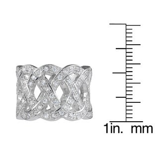 Journee Collection Sterling Silver Cubic Zirconia Fashion Band