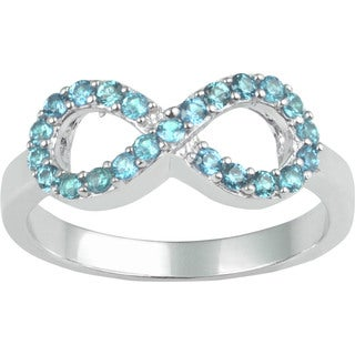 Sterling Silver Cubic Zirconia Infinity Birthstone Ring (Option: 9)