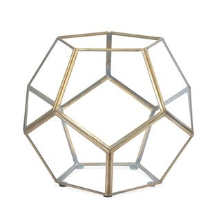 Ren Wil Arabella Brass Hexagon Terrarium II