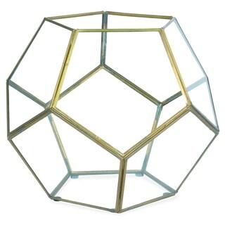 Ren Wil Arabella Brass Hexagon Terrarium
