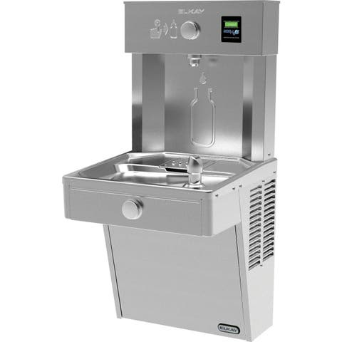 Elkay EZH2O Vandal-Resistant Bottle Filling Station & Single Cooler, Non-Filtered 8 GPH Stainless