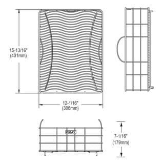Elkay Stainless Steel Rinsing Basket LKWRB1518SS