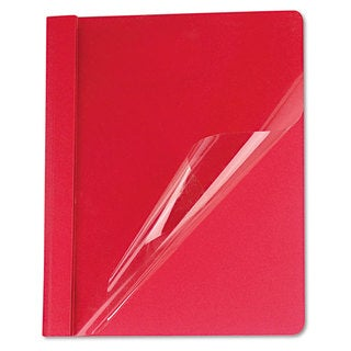 Universal Red Clear Front Report Cover (Box of 25)