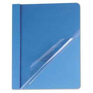 Universal Light Blue Clear Front Report Cover (Box of 25)