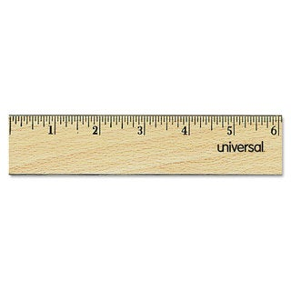 Universal Clear Flat Wood Ruler with Double Metal Edge (Pack of 10)