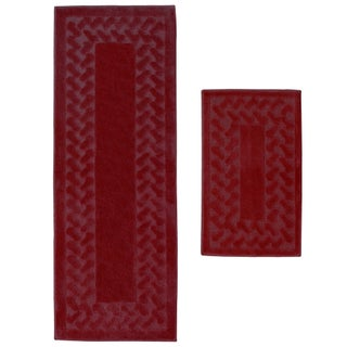 Herringbone 2-Piece Small Rug Set - 1'10 x 3'6