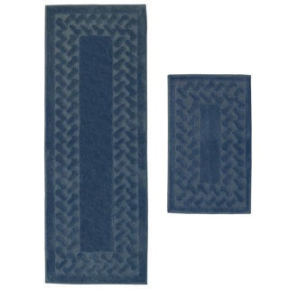 Herringbone 2-Piece Small Rug Set - 1'10 x 3'6