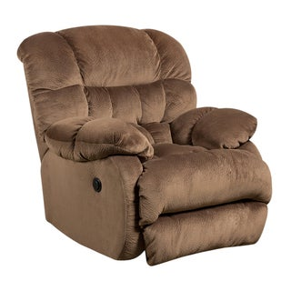 Contemporary Sharpei Microfiber Push Button Power Recliner