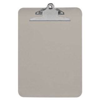 "Universal Smoke Plastic Clipboard with 1"" High Capacity Clip (Pack of 9)"