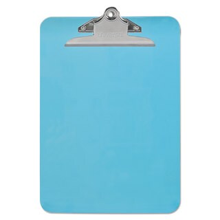 "Universal Blue Plastic Clipboard with 1"" High Capacity Clip (Pack of 9)"