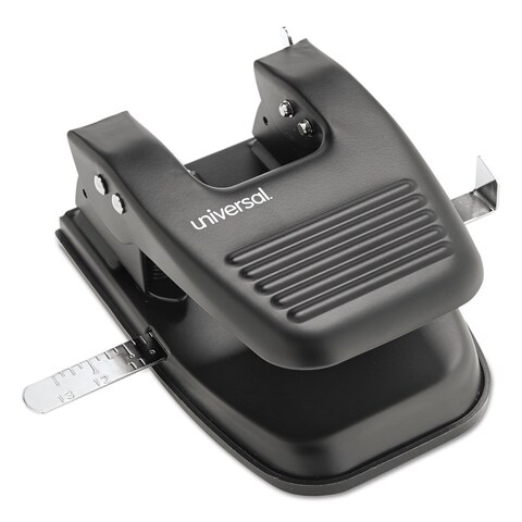 Universal Black 30-Sheet Two-Hole Punch (Pack of 4)