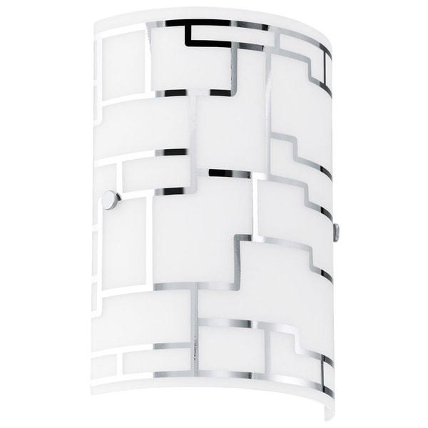 Eglo Bayman 1 X 60w Wall Light W Chrome Finish Amp White