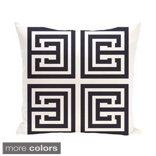 Exclusive Geometric Print Greek Key 26-inch Decorative Pillow