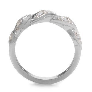 Platinum 3/8ct TDW Diamond Braided Estate Ring (G-H, VS1-VS2) (Size 7)