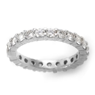 Platinum 1 4/5ct TDW Diamond Estate Eternity Ring (H, VS2) (Size 6.5)