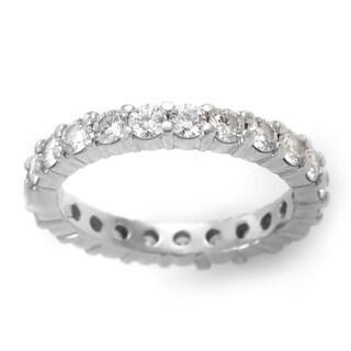 Platinum 1 4/5ct TDW Diamond Estate Eternity Ring (H, VS2) (Size 6.5)