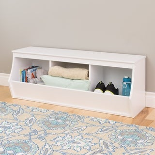 Stackable 3-bin Storage Cubby (2 options available)