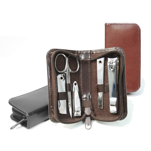 Royce Leather Aristo Italian Bonded Leather Mini Manicure Set