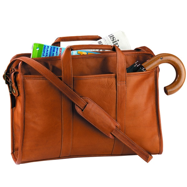 Royce Leather 'Ellis' Soft-Sided American Genuine Leather 15-inch Laptop Briefcase