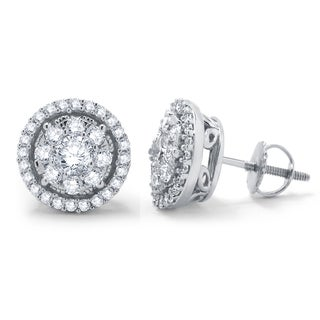 Divina 14k White Gold 1ct TDW Diamond Unity Earrings (H-I, I2-I3)