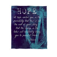 Let Hope Anchor You Coral Fleece Throw
