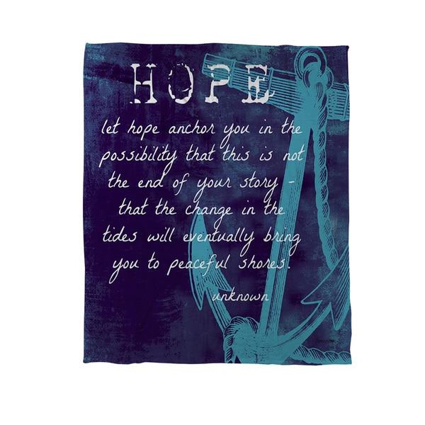 Let Hope Anchor You Coral Fleece Throw