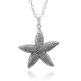 Journee Collection Stainless Steel Starfish Pendant