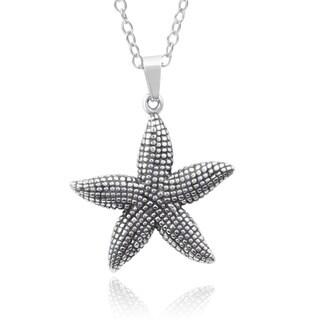 Journee Collection Stainless Steel Starfish Pendant