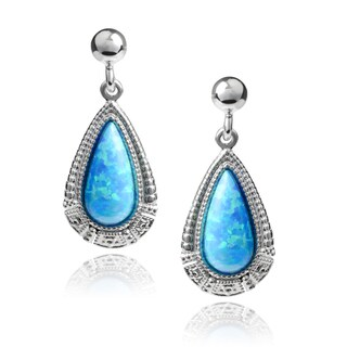 Journee Collection Opal Teardrop Dangle Earrings