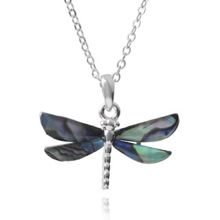 Journee Collection Shell Dragonfly Pendant