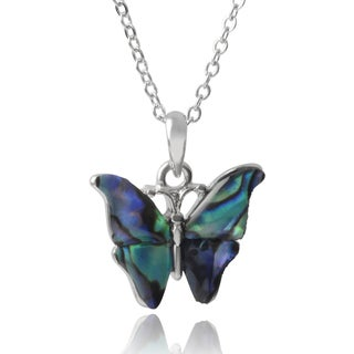 Journee Collection Butterfly Pendant