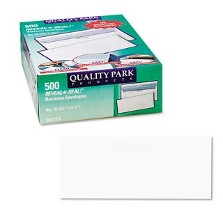 Quality Park White Reveal-N-Seal Business Envelope