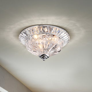 Graciela 3-light Chrome/Crystal Flush Mount Chandelier