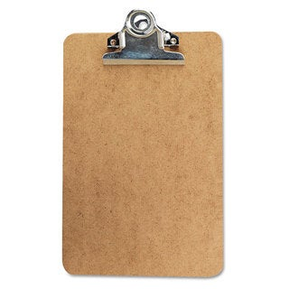 Universal Brown Clipboard with High Capacity 1-inch Clip (Pack of 10)