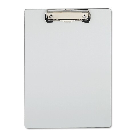 Universal One Brushed Aluminium Plastic Silver Clipboard (Pack of 3)