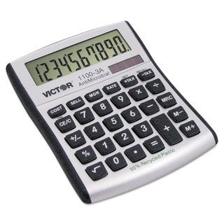 Victor 1100-3A Antimicrobial Compact Desktop Calculator