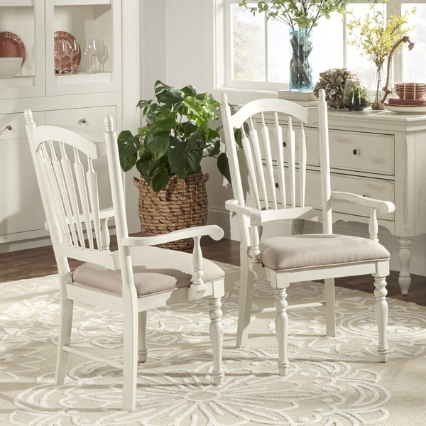 McKay Country Antique White Slat Back Dining Chair (Set Of 2) By INSPIRE Q  Classic   Free Shipping Today   Overstock.com   17228684