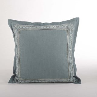 Embroidered Border Down Filled Throw Pillow
