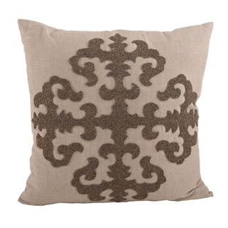 Beaded Medallion 18-inch Down Filled Throw Pillow