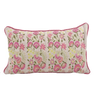 Link to Embroidered Flower Down Filled Throw Pillow Similar Items in Decorative Accessories