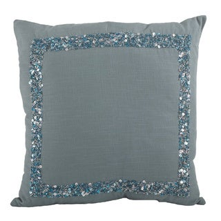 Seed Bead 18-inch Down Filled Throw Pillow