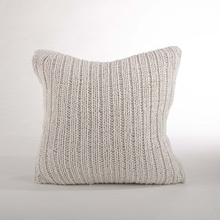 Knitted 20-inch Down Filled Throw Pillow